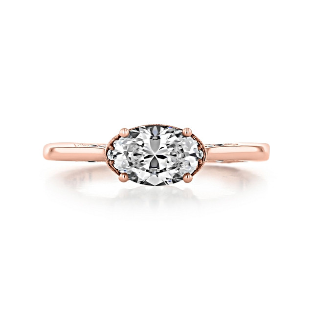 1 ct Simply Tacori Solitaire Rose Gold Engagement Ring (2654OV75X55)
