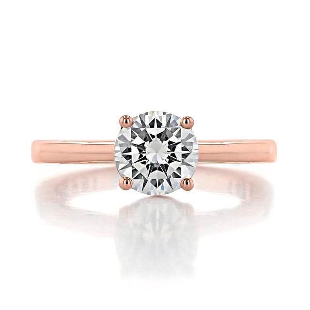 1.25 ct Tacori Coastal Crescent Rose Gold Engagement Ring (P100RD7)