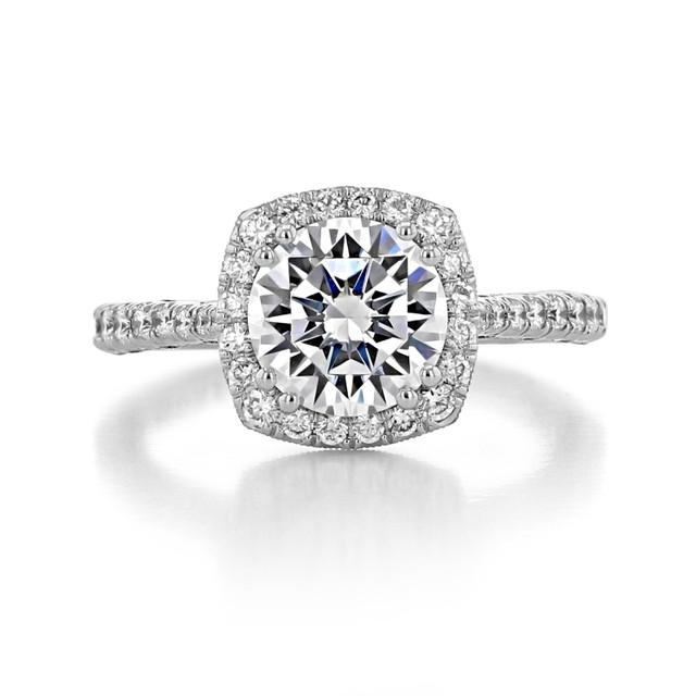 Tacori Petite Crescent Engagement Ring (HT2571CU8)