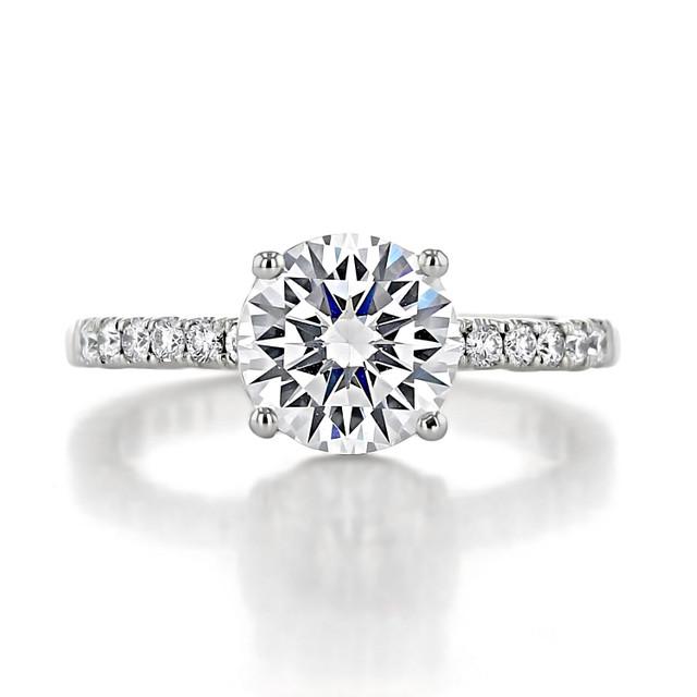 2 ct Tacori Coastal Crescent White Gold Engagement Ring (P1042RD8)