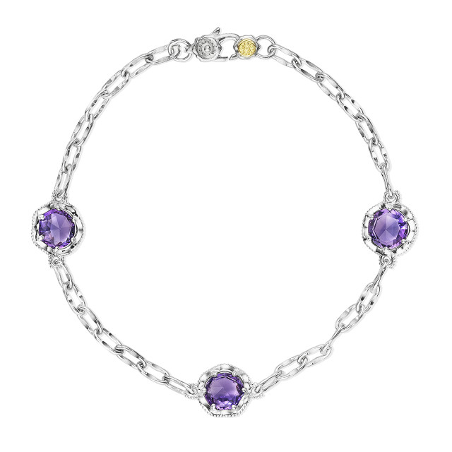 Crescent Crown Amethyst Fashion Bracelet (SB22101)
