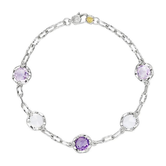 Crescent Crown Assorted Gemstone Fashion Bracelet (SB222130301)