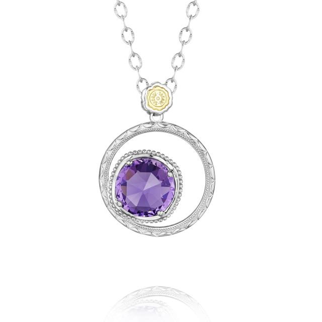 Gemma Bloom Bold Amethyst Fashion Necklace (SN14101)