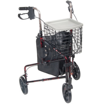 drive Deluxe 3 Wheel Rollator Drive Medical 10289BL