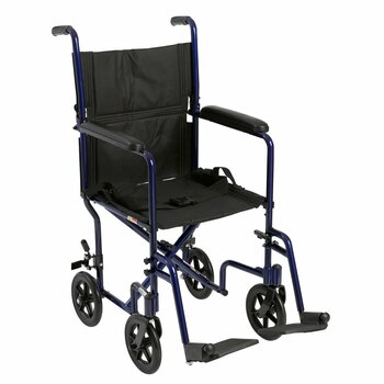 McKesson Lightweight Transport Chair McKesson Brand 146-ATC19-BL