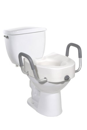 drive Elongated Raised Toilet Seat with Arms Drive Medical 12013