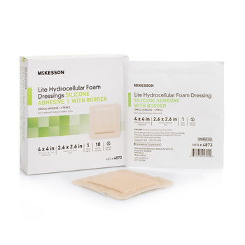 McKesson Lite Thin Silicone Foam Dressing McKesson Brand