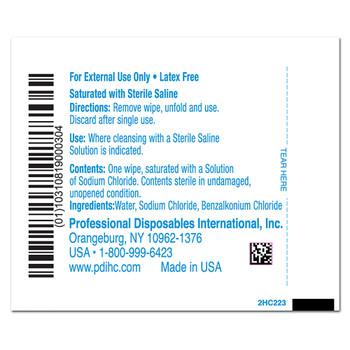 Hygea Saline Wipe Professional Disposables C22370