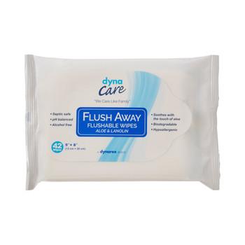 Flush Away Junior Flushable Personal Wipe Dynarex 1324