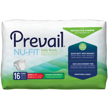 Prevail Nu-Fit Incontinence Brief First Quality NU-01