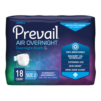 Prevail Air Overnight Incontinence Brief First Quality NGX-013