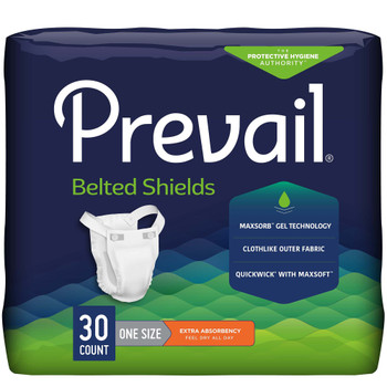 Prevail Belted Shields Incontinence Belted Undergarment First Quality PV-324