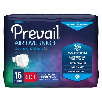 Prevail Air Overnight Incontinence Brief First Quality NGX-01