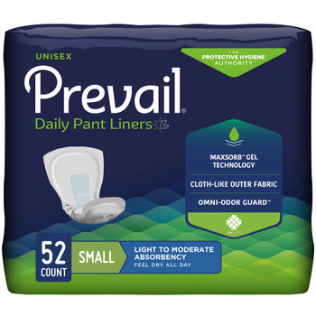 Prevail Daily Pant Liners Bladder Control Pad First Quality PL-100/1