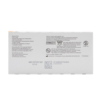 Webcol Alcohol Prep Pad Cardinal 5110
