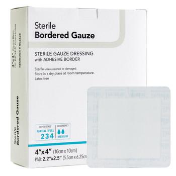 DermaRite Bordered Gauze Adhesive Dressing DermaRite Industries 00262E