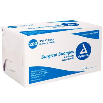 Dynarex 8-Ply Gauze Sponge