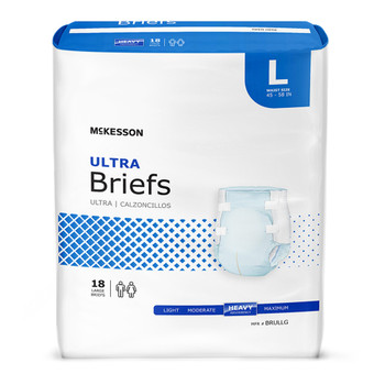 McKesson Ultra Incontinence Brief McKesson Brand BRUL