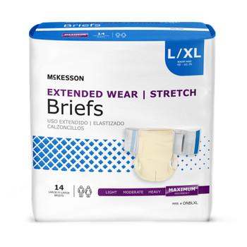 McKesson Extended Wear Stretch Incontinence Brief McKesson Brand ONB