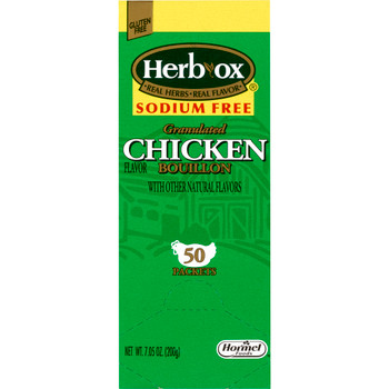 Herb-Ox Sodium Free Instant Broth Hormel Food Sales 36087