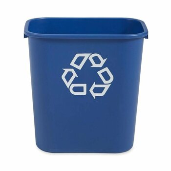 Deskside Recycling Container RJ Schinner Co FG295673BLUE