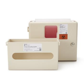 McKesson Prevent Sharps Wall Cabinet with Glove Box McKesson Brand 2265