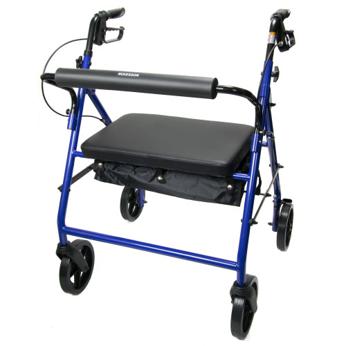 McKesson Bariatric 4 Wheel Rollator McKesson Brand 146-10216BL-1