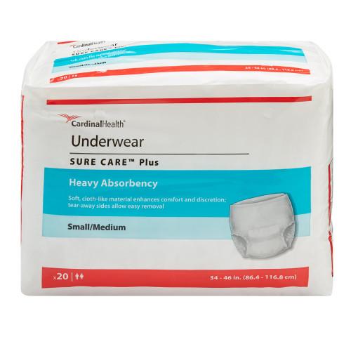 Sure Care Plus Absorbent Underwear Cardinal 1605