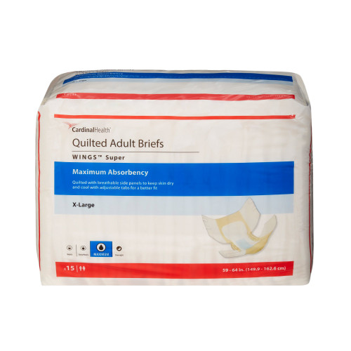Wings Super Incontinence Brief Cardinal 87083