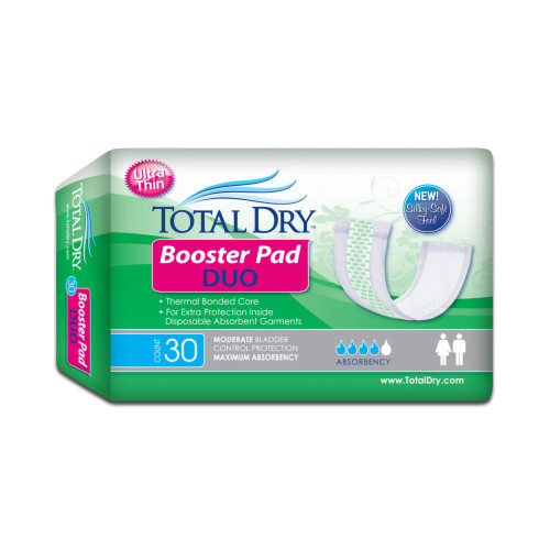 TotalDry Booster Pad Duo Incontinence Booster Pad Secure Personal Care Products BH98102