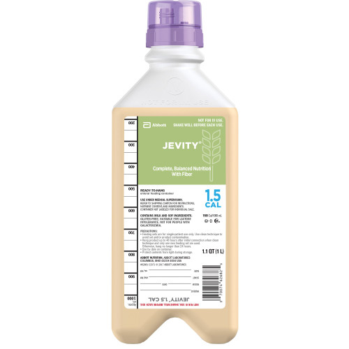 Jevity 1.5 Cal Tube Feeding Formula Abbott Nutrition 62681
