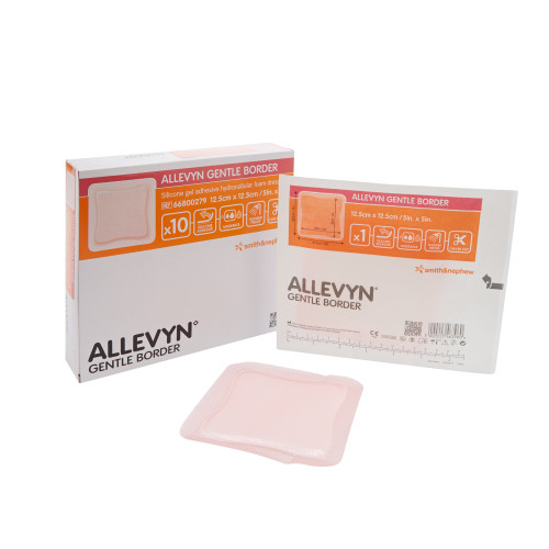 Allevyn Gentle Border Silicone Foam Dressing Smith & Nephew 66800276