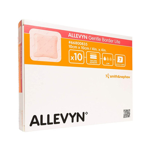 Allevyn Gentle Border Lite Thin Silicone Foam Dressing Smith & Nephew 66800833