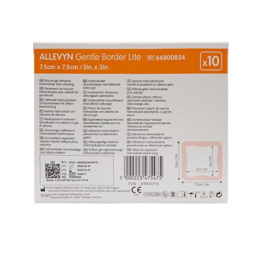 Allevyn Gentle Border Lite Thin Silicone Foam Dressing Smith & Nephew 66800833