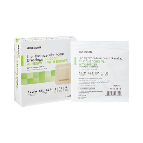 McKesson Lite Thin Silicone Foam Dressing McKesson Brand