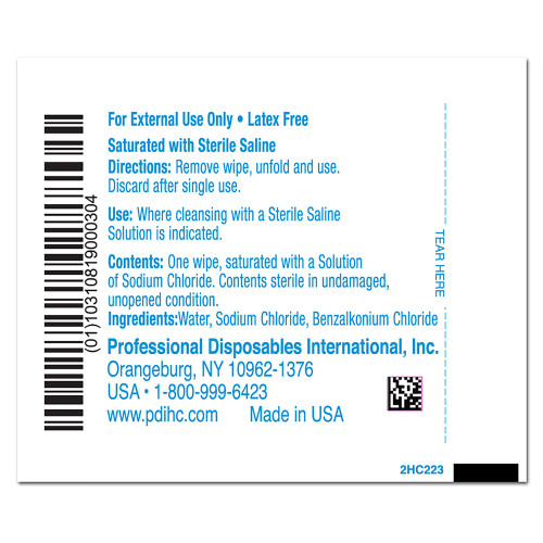 Hygea Saline Wipe Professional Disposables C22370