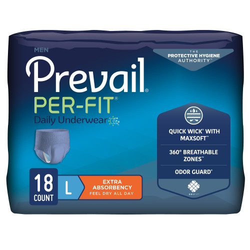 Prevail Per-Fit Men Absorbent Underwear First Quality PFM-513