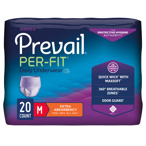 Prevail Per-Fit Women Absorbent Underwear First Quality PFW-512