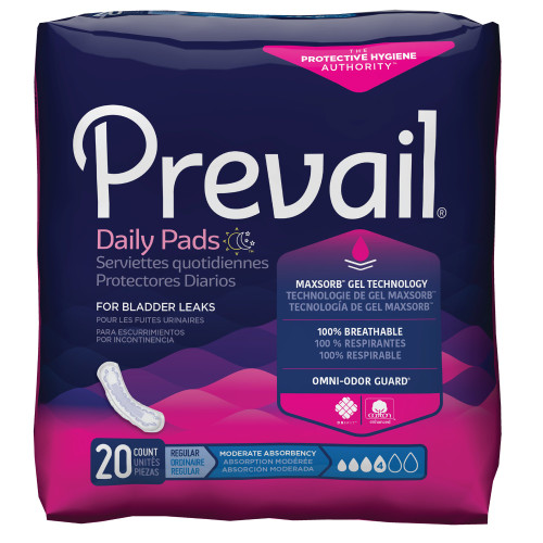 Prevail Daily Bladder Control Pad First Quality BC-012
