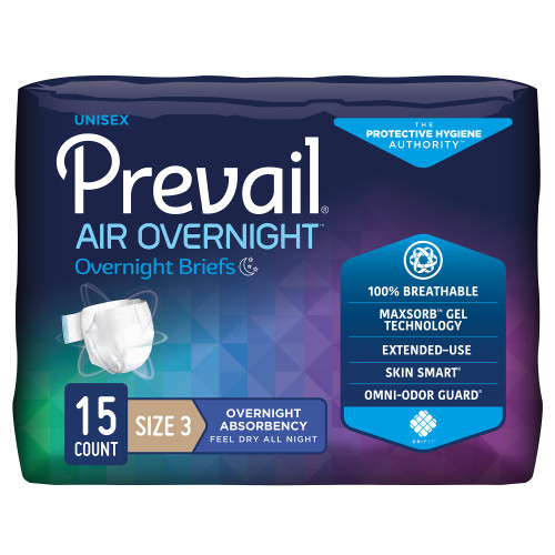 Prevail Air Overnight Incontinence Brief First Quality NGX-014