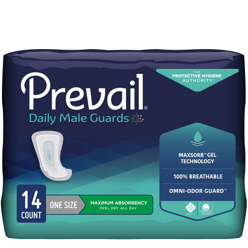 Prevail Daily Male Guards Bladder Control Pad First Quality PV-811