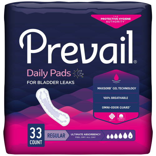 Prevail Daily Pads Ultimate Bladder Control Pad First Quality PV-923/1