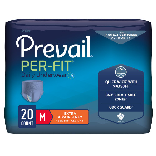 Prevail Per-Fit Men Absorbent Underwear First Quality PFM-512