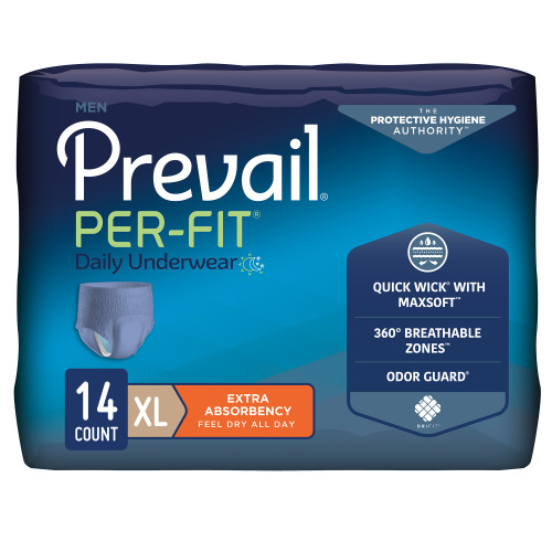 Prevail Per-Fit Men Absorbent Underwear First Quality PFM-514