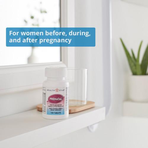 Geri-Care HealthStar Prenatal Vitamin Supplement McKesson Brand