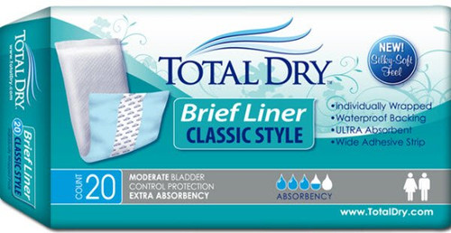 Total Dry Bladder Control Pad Secure Personal Care Products SP1571