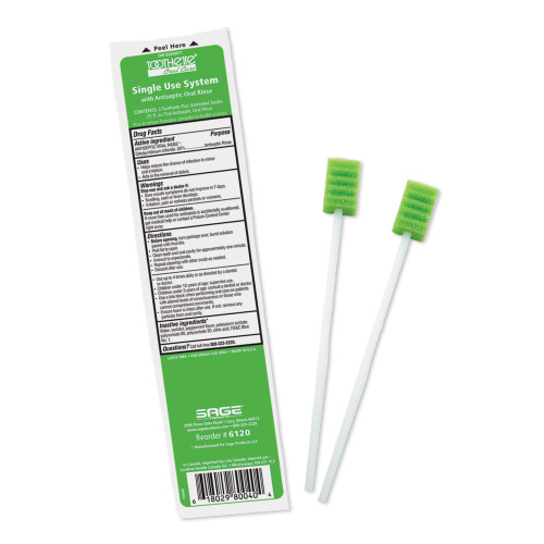 Toothette Plus Oral Swabstick Sage Products 6120