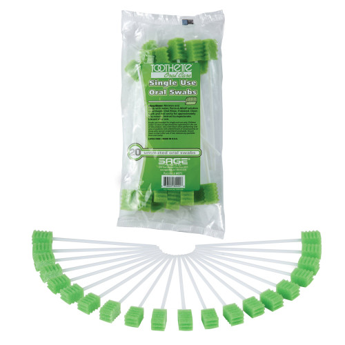 Toothette Plus Oral Swabstick Sage Products 6071