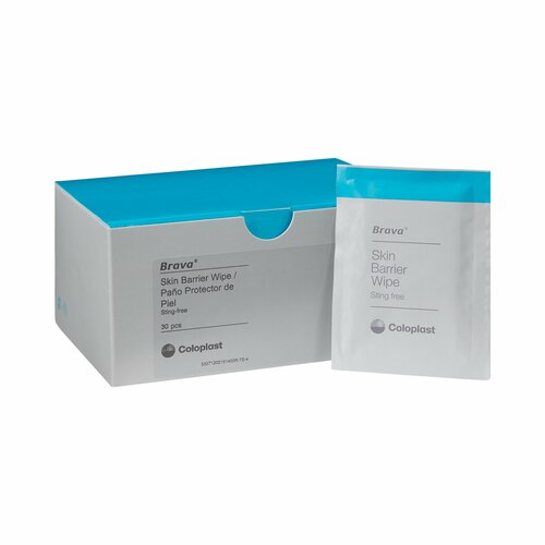 Brava Sting Free Skin Barrier Wipe Coloplast 120215