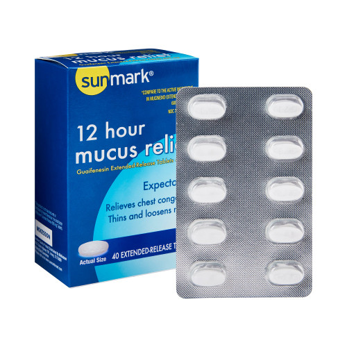 sunmark mucus E.R. Cold and Cough Relief McKesson Brand 70677005501